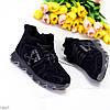 Черные спортивные замшевые женские ботинки натуральная замша, фото 3