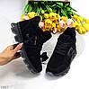 Черные спортивные замшевые женские ботинки натуральная замша, фото 2
