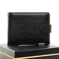 Мужское  портмоне Crocodile кожа BRETTON M3722 black.Мужские кошельки оптом и в розницу Украине
