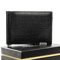Мужское  портмоне Crocodile кожа BRETTON M3206 black.Мужские кошельки оптом и в розницу Украине
