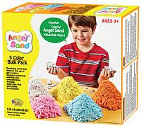 Кинетический песок Angel Sand Пять цветов 2 л
