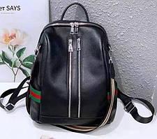 Жіночий міський шкіряний рюкзак - сумка / натуральна шкіра / жіночі рюкзаки
