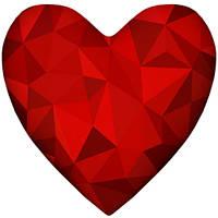 """Подушка-сердце 3D """"Бриллиант"""" 5 цветов, фото 1"""
