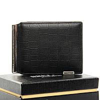 Мужское  портмоне Crocodile кожа BRETTON M3242 black.Мужские кошельки оптом и в розницу Украине