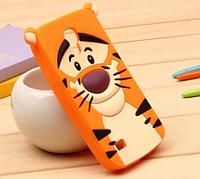 Силиконовый чехол Тигр для Samsung S4 i9500
