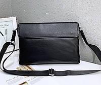 Чоловіча шкіряна сумка 1118BL чорна, фото 1