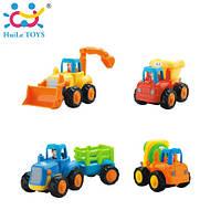 Машинки инерционные Huile Toys набор строительная техника (комплект из 4 шт)