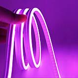 Светодиодный Гибкий Неон 2 х сторонний LED Флекс Неон 50 м Фиолетовый, фото 5