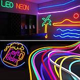 Светодиодный Гибкий Неон 2 х сторонний LED Флекс Неон 50 м Фиолетовый, фото 8