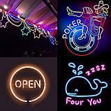 Светодиодный Гибкий Неон 2 х сторонний LED Флекс Неон 50 м Фиолетовый, фото 7