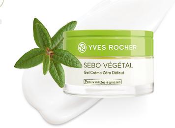 Гель-Крем Нуль Недоліків для обличчя ів роше Yves Rocher себо вежеталь sebo vegetal