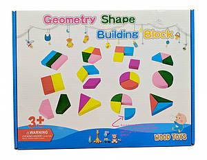 Деревянная игрушка Геометрика MD 2329A-B-C-D (A)