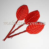 Искусственные листочки, цвет красный, 5 см,