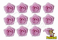 Цветы розы Светло-розовые из фоамирана (латекса) 2 см 10 шт/уп
