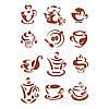 Трафарет 22х33 см Кофейные миниатюры