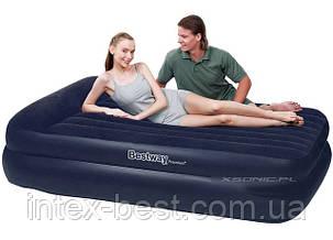 Двуспальная надувная кровать Bestway 67403 (203х152х46 см.) встроенный электрический насос, фото 2