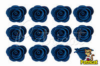 Цветы розы Сланцевые из фоамирана (латекса) 2.5 см 10 шт/уп