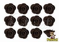 Цветы розы Шоколадные из фоамирана (латекса) 2.5 см 10 шт/уп
