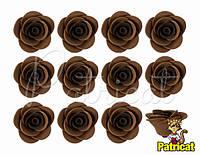 Цветы розы Шоколадно-кофейные из фоамирана (латекса) 2.5 см 10 шт/уп