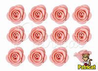 Цветы розы Персиковые из фоамирана (латекса) 2.5 см 10 шт/уп