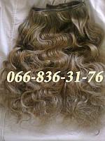 Волосы на заколках волнистые 60 см., фото 1