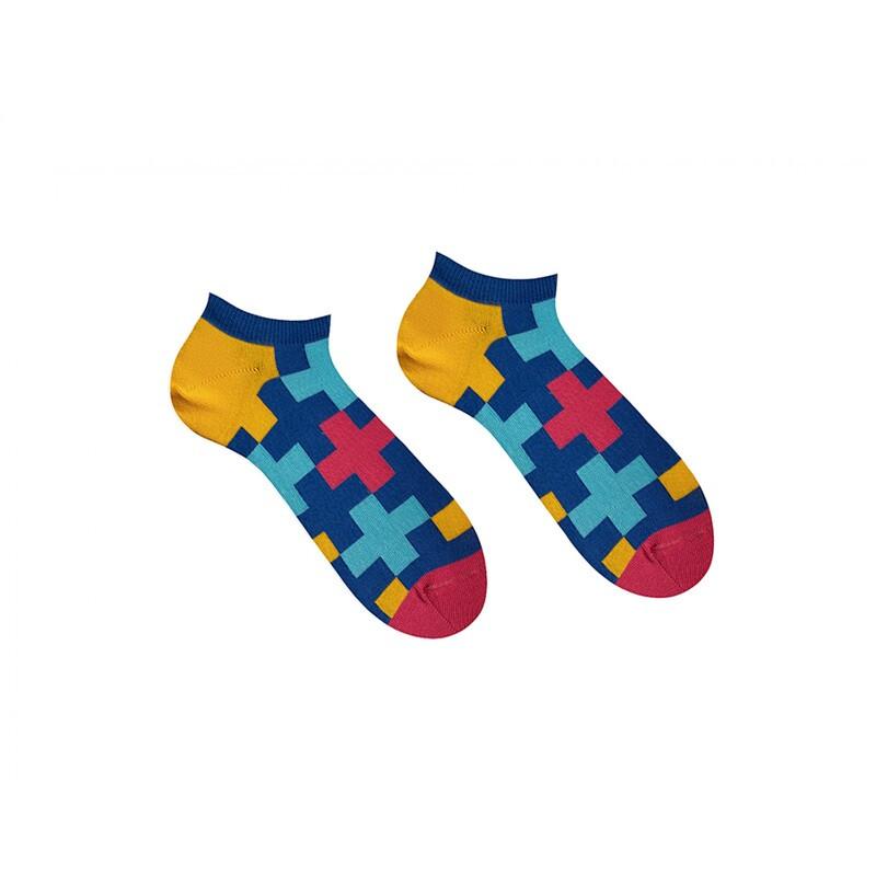 Носки короткие Sammy Icon с разноцветными крестами