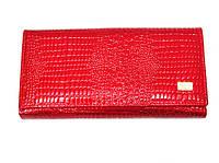 Кошелек Canevo SR 5242 красный женский из натуральной кожи на магнитной застежке