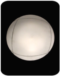 Светильник с квадратной полоской - D190 мм