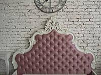 Кровать резная Аврора с золотом, фото 1