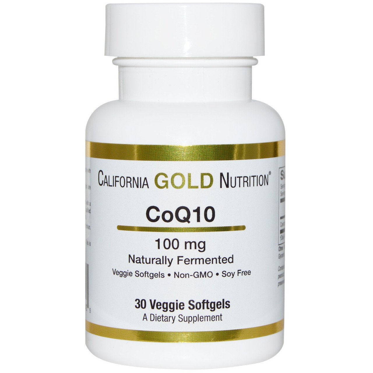 Коэнзим Q10: California Gold Nutrition, 100 мг, 30 ш.