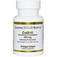 Коэнзим Q10: California Gold Nutrition, 100 мг, 30 ш.