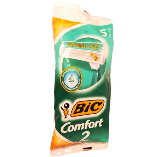 Одноразовые бритвенные станки BIC 2 Comfort (5шт.)