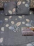 Байковый  комплект постельного белья Байка ( фланель)  Цветы на Розовом Евро размер, фото 4