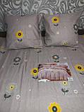 Байковый  комплект постельного белья Байка ( фланель)  Цветы на Розовом Евро размер, фото 6