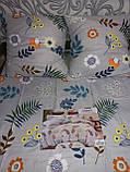 Байковый  комплект постельного белья Байка ( фланель)  Цветы на Розовом Евро размер, фото 7