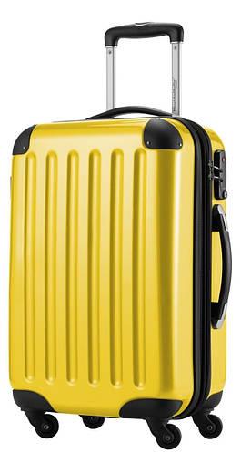 Практичный пластиковый 4-колесный большой чемодан 87 л. HAUPTSTADTKOFFER alex midi yellow желтый