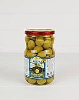 Оливки зеленые с косточкой Athena 700г/400г (Турция), фото 1