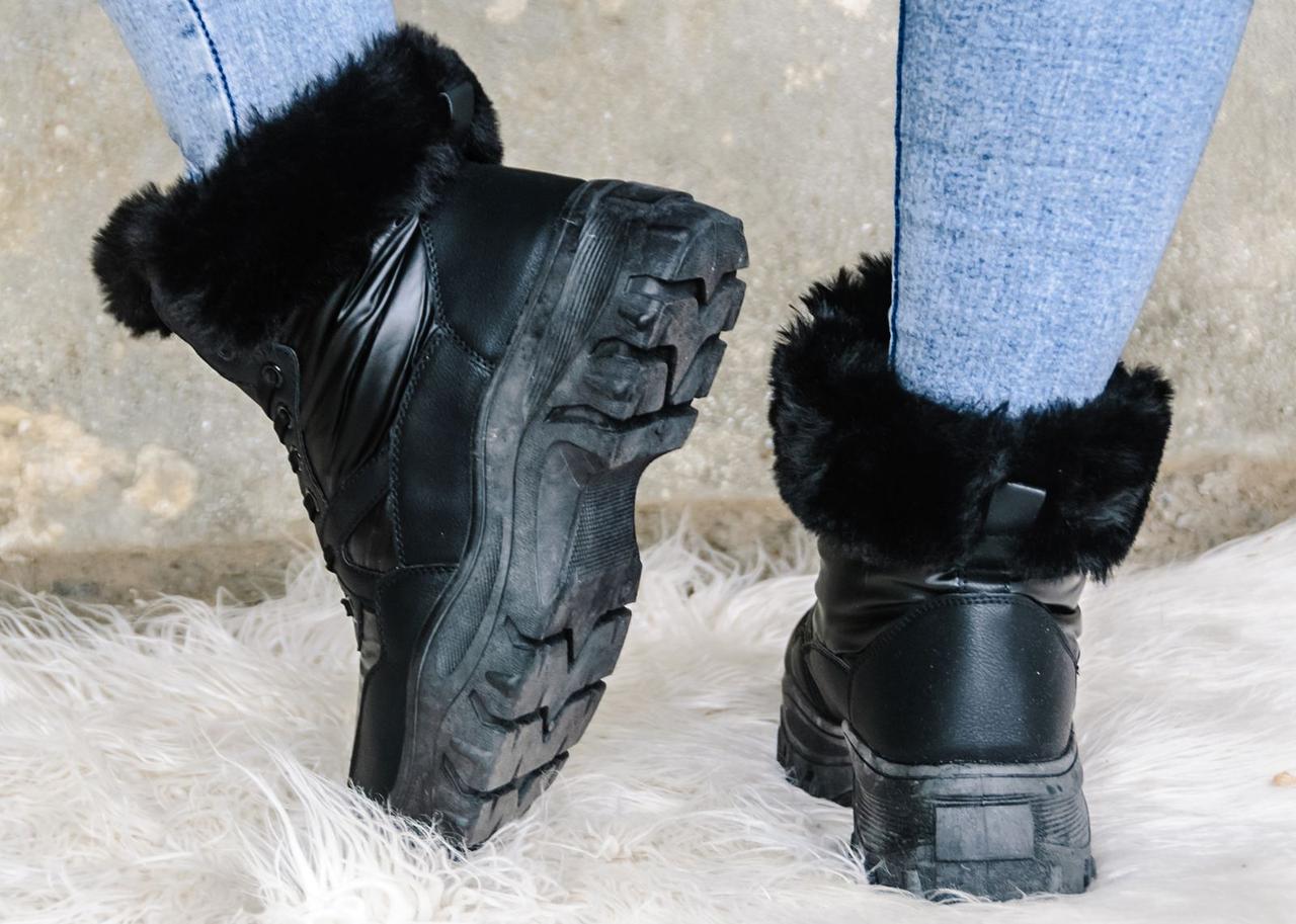 Черевики жіночі зима еко-шкіра