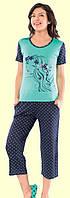 Комплект для сна футболка и капри   Nicoletta 12535, фото 1