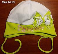 Весенняя шапка для новорожденной и старше