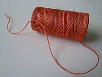 Канат джутовый декоративный оранжевый 1,5 мм бобина 100 м