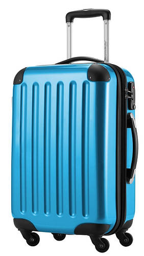 Комфортный 4-колесный пластиковый большой чемодан 87 л. HAUPTSTADTKOFFER alex midi blue голубой