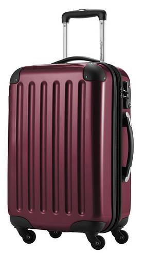 4-колесный пластиковый вместительный большой чемодан 87 л. HAUPTSTADTKOFFER alex midi burgund бордовый