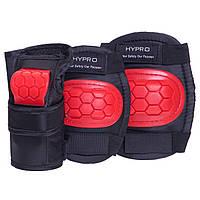 Комплект захисту HYPRO HP-SP-B104 розміри в асорт., M (8-12лет) кольори в асорт., Чорний-червоний