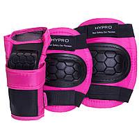 Комплект захисту HYPRO HP-SP-B104 розміри в асорт., S (3-7лет) кольори в асорт., Чорний-рожевий