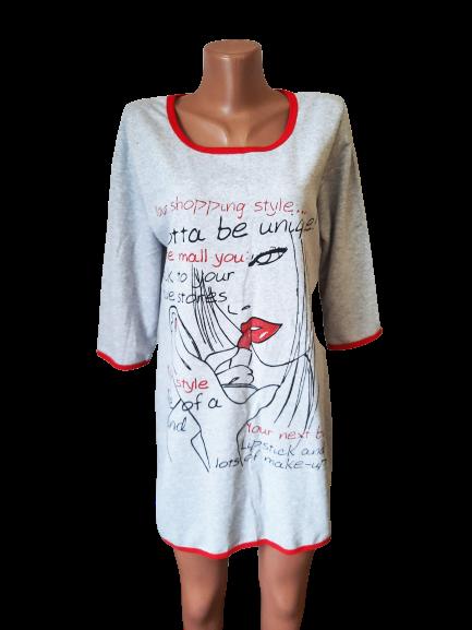 Туника /ночная рубашка женская тёплая на байке хлопок Украина р.48,50,52,54,56. От 5шт по 119грн.