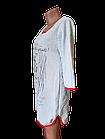 Туника /ночная рубашка женская тёплая на байке хлопок Украина р.48,50,52,54,56. От 5шт по 119грн., фото 2