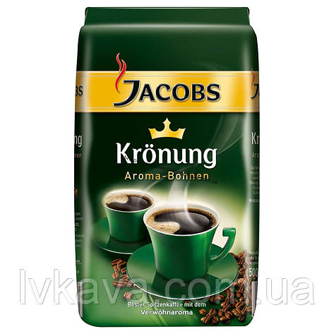 Кофе в зернах Jacobs Kronung,  500г, фото 2