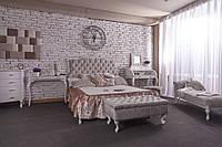Кровать деревянная Камея с потертостью Прованс