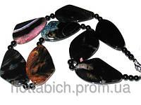 Ожерелье женское натуральный камень агат
